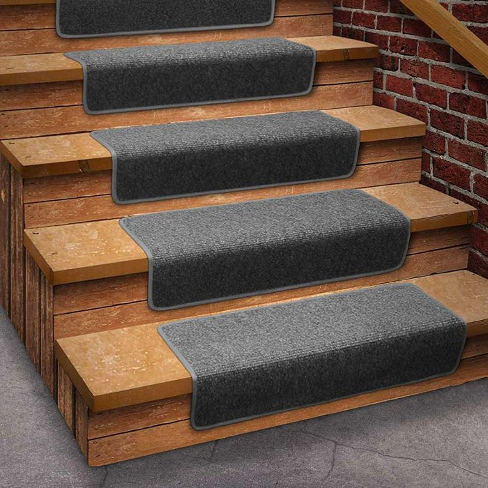 13-Attachable-Basement-Step-Carpet-Stair-Treads-Gray