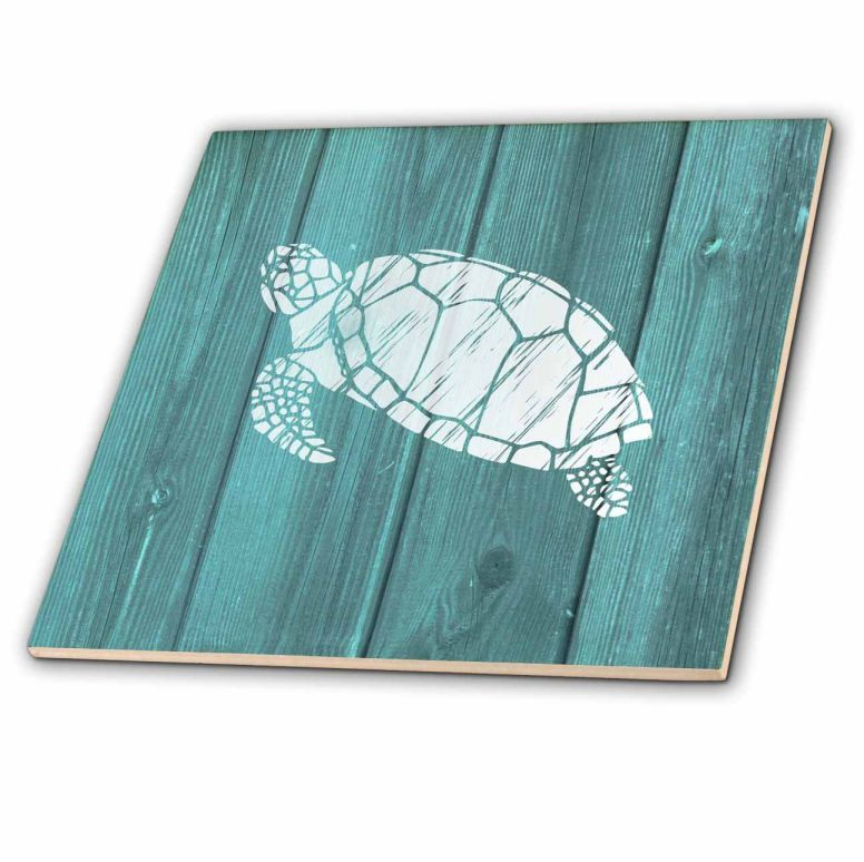 3dRose-Turtle-Stencil-In-White-Over-Teal-Weatherboard-Not-Real-Wood-Ceramic-Tile-12-Inch-ct_220428_4