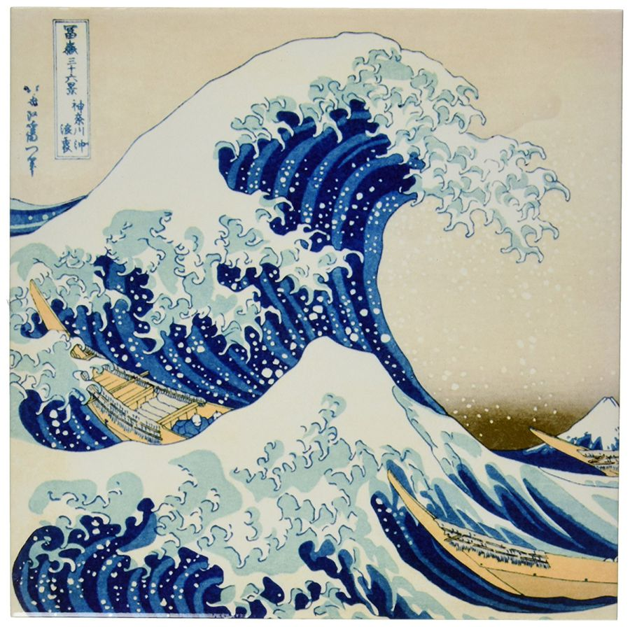 3dRose-ct_155631_4-The-Great-Wave-Off-Kanagawa-by-Japanese-Artist-Hokusai-Dramatic-Blue-Sea-Ocean-Ukiyo-E-Print-1830-Ceramic-Tile-12-Inch