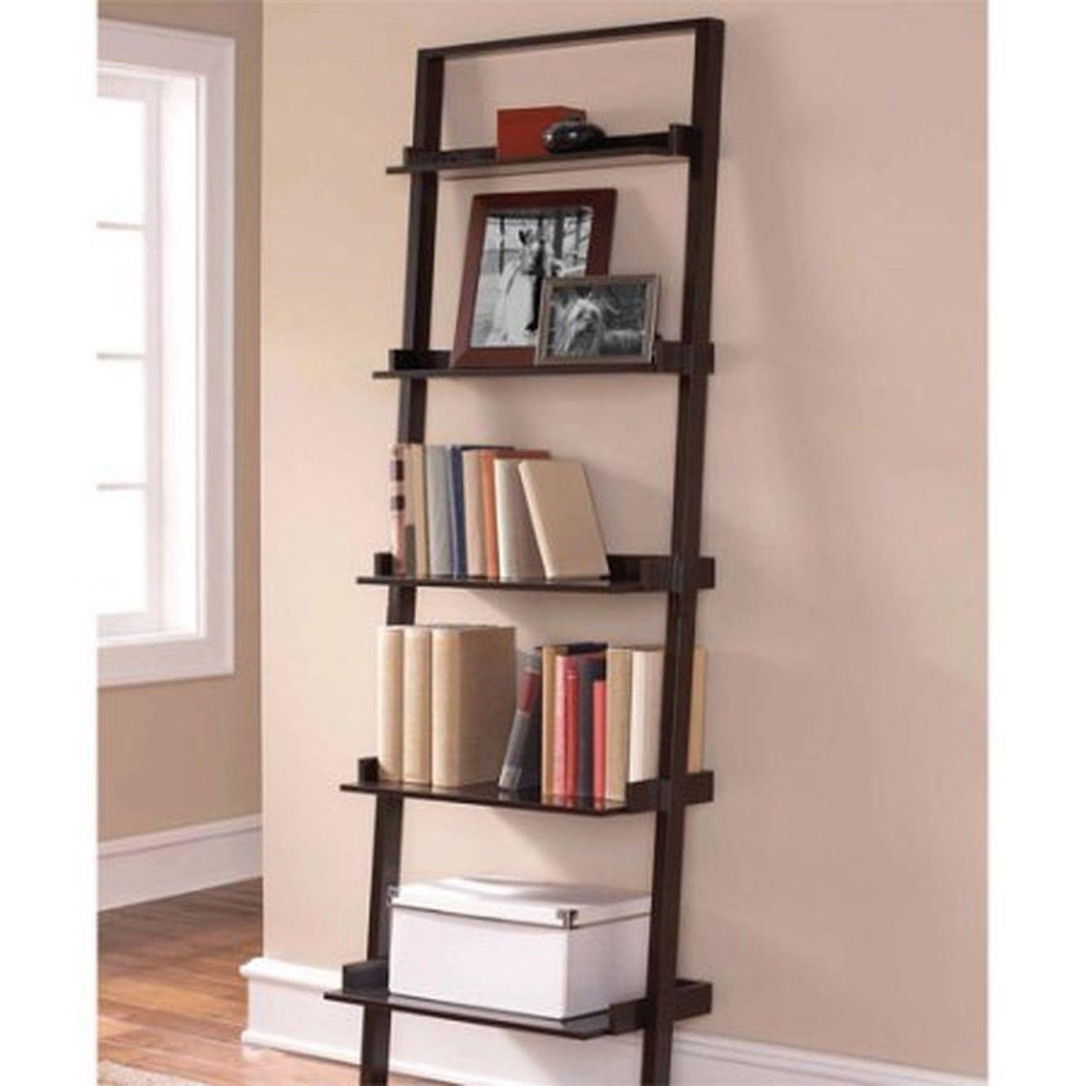 5-Shelf-Storage-Rack-Espresso-Bookcase-Wood