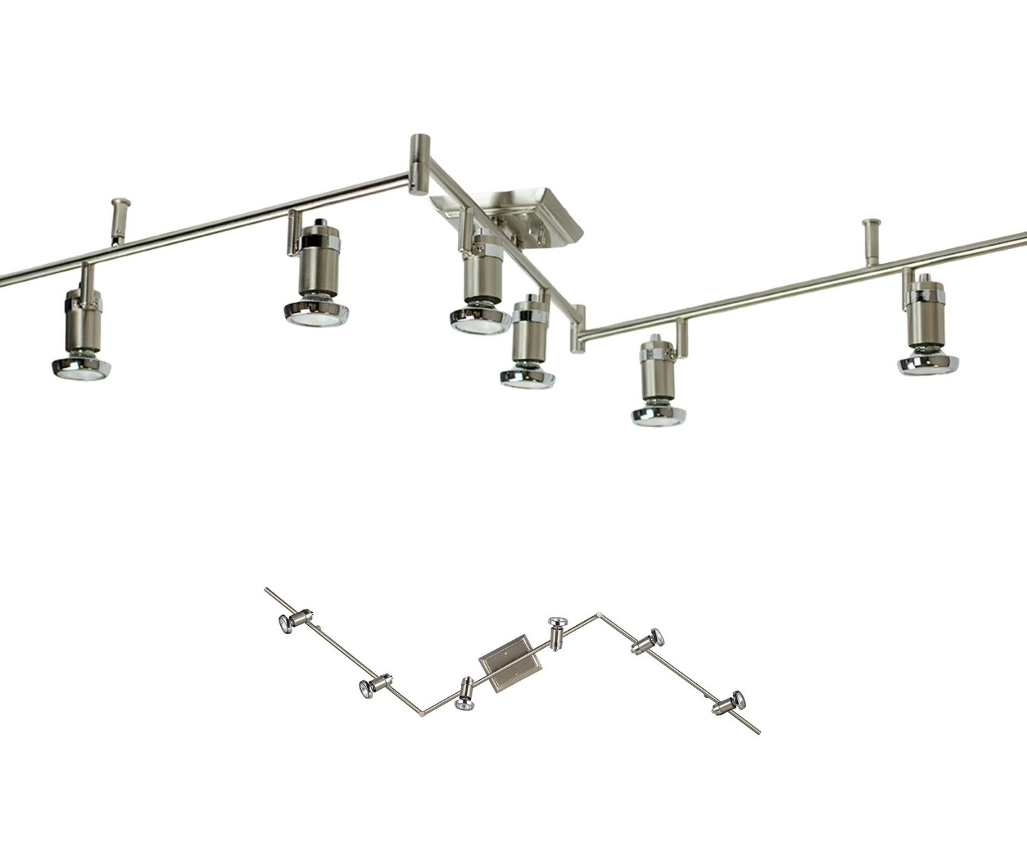 6 Light Track Lighting Ceiling Mount Spot Light Fixture
