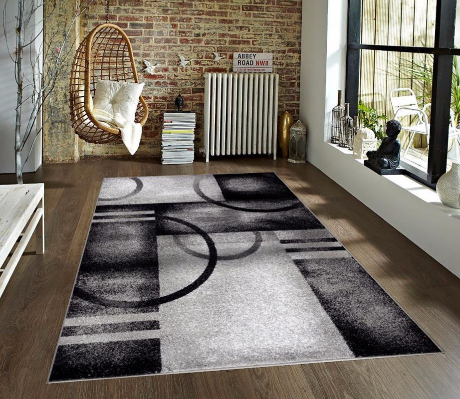 7030 Gray Area Rug Modern Carpet Large