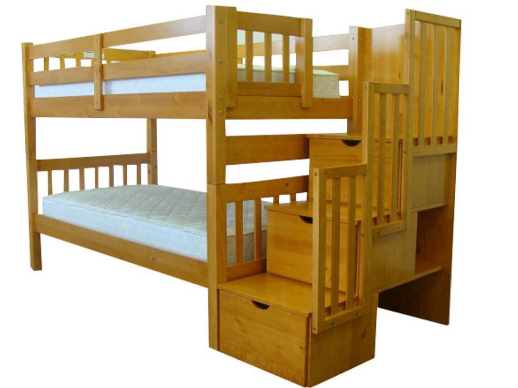 Bedz-King-Stairway-Bunk-Bed-Twin-over-Twin-with-3-Drawers-in-the-Steps-Honey