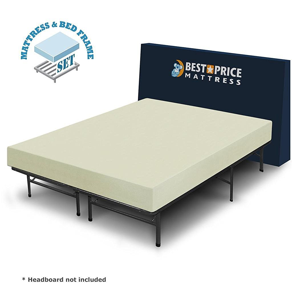 Best-Price-Mattress-6-inch-Comfort-Memory-Foam-Mattress-and-Bed-Frame-Set