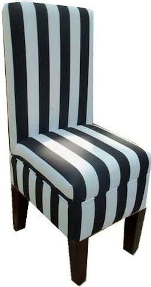 Black-and-White-Striped-Dining-Vanity-Chair