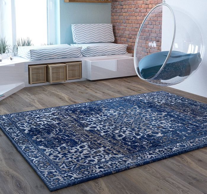 Blue-Extra-Traditional-Distressed-Area-Rug