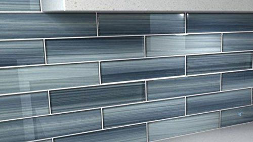 Bodesi Gentle Grey Glass Tile Perfect for Kitchen Backsplash or Bathroom