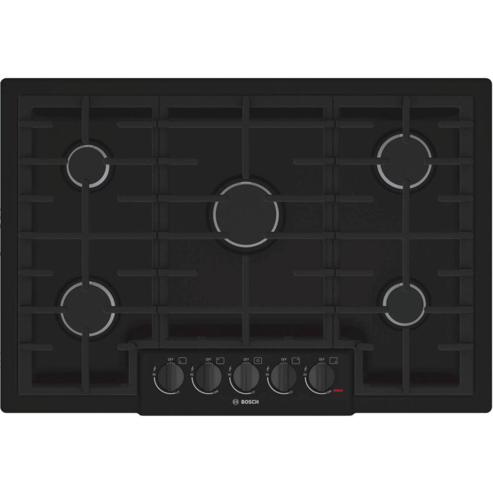 Bosch NGM8065UC 800 30 Black Gas Sealed Burner Cooktop