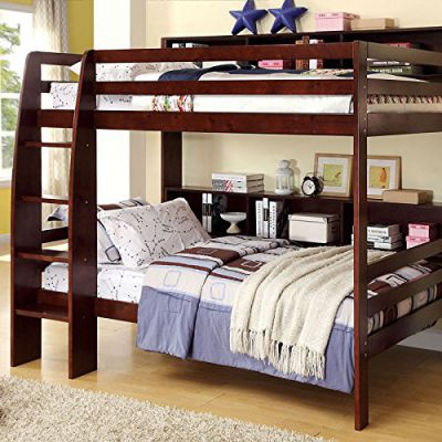 Camino-Classic-Style-Dark-Walnut-Finish-Due-Twin-Size-Bunk-Bed