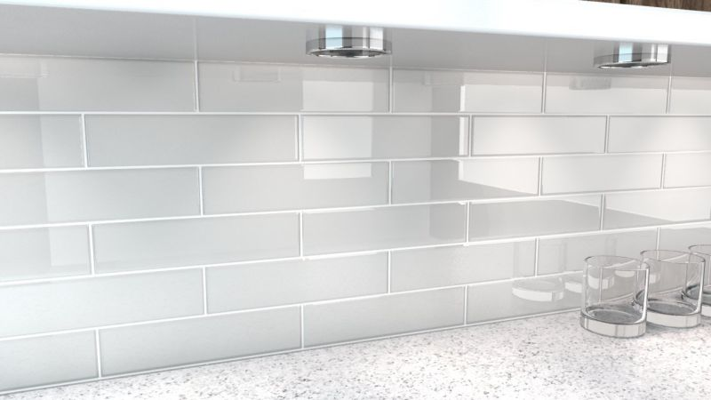 City Gray Glass Tile. Perfect for kitchens and bathrooms