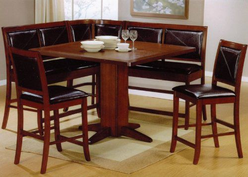 Coaster 6pc Counter Height Dining Table & Stools Set