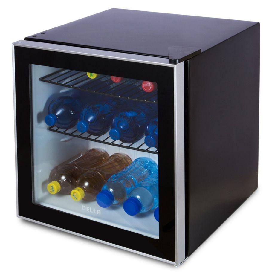 Della-Beverage-Center-Compact-Built-In-Cooler-Mini-Refrigerator-Reversible-Door-Black