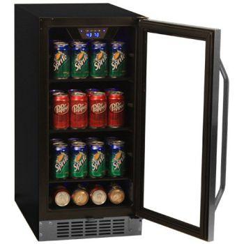 EdgeStar-80-Can-Built-In-Beverage-Cooler-Black-Stainless-Steel