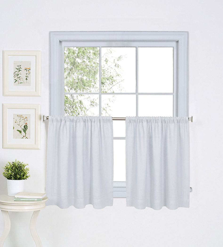 Elrene-Home-Fashions-026865775129-Solid-Hemstitched-Rod-Pocket-Cafe-Kitchen-Tier-Window-Curtain