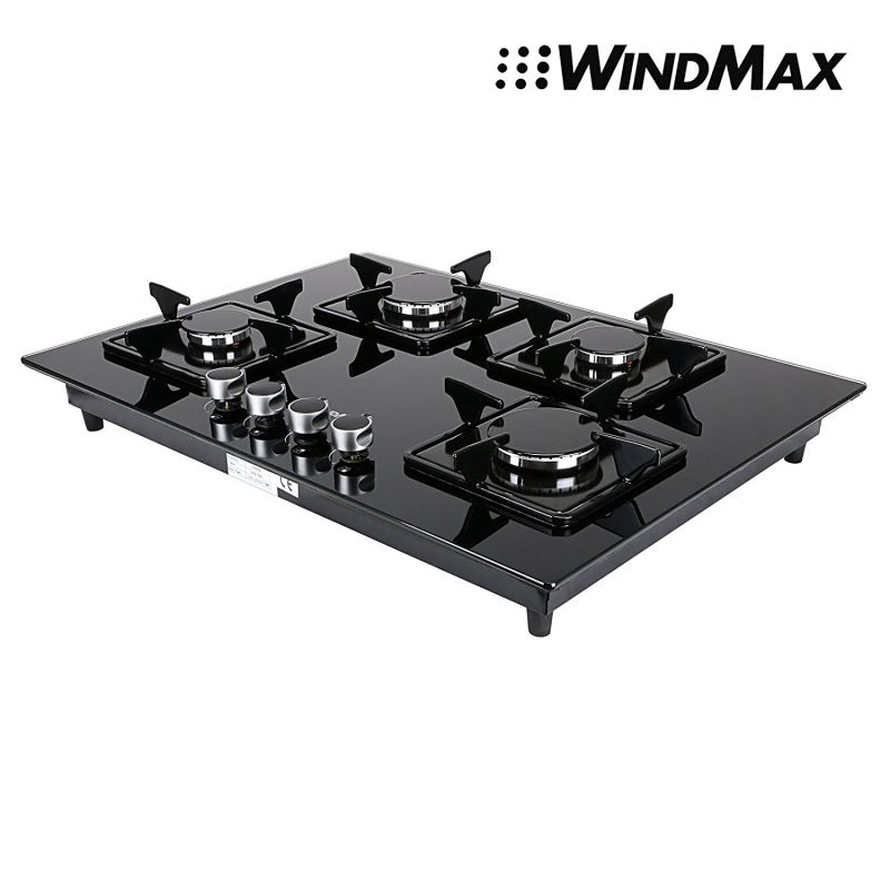 Euro-Style-28-inch-Black-Glass-4-Burner-Built-In-Stove-NG-Natural-Gas-Cooktop-Cooker