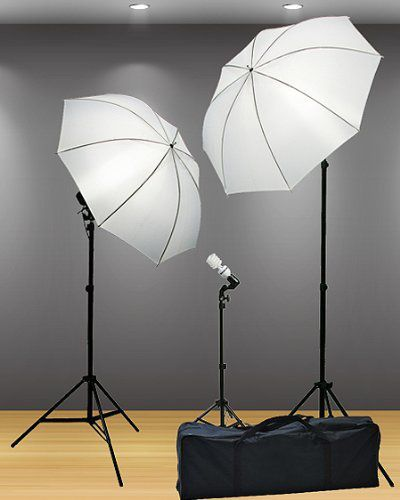 Fancierstudio 3 Point Umbrella Lighting Kit with Carrying Case