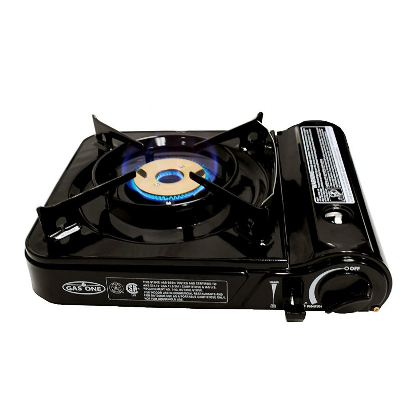 GAS-ONE-GS-3800DF-Brass-Head-Burner-with-Dual-Spiral-Flame-11000-BTU-Portable-Gas-Stove-with-Heavy-Duty-Clear-Carrying-Case-CSA-Listed