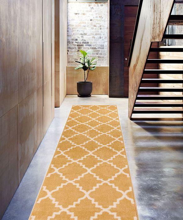 Golden-Yellow-Area-Rug-Trellis-Morrocan-Modern