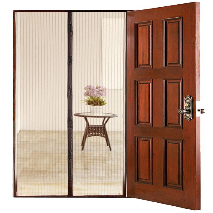 HOMEE Hands-Free Magnetic Mesh Screen Door Retractable