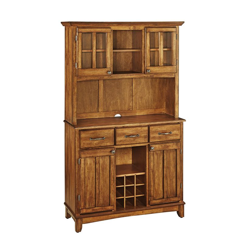 Home Styles 5100-0066-62 Buffet of Buffets Cottage Oak Wood with Hutch