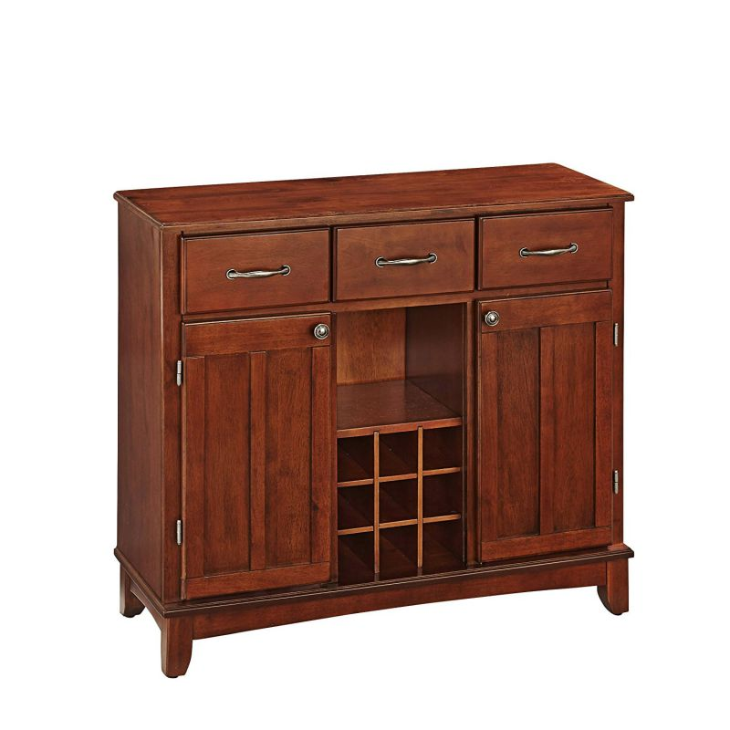 Home Styles 5100-0072 Buffet of Buffets Medium Cherry Wood with Server