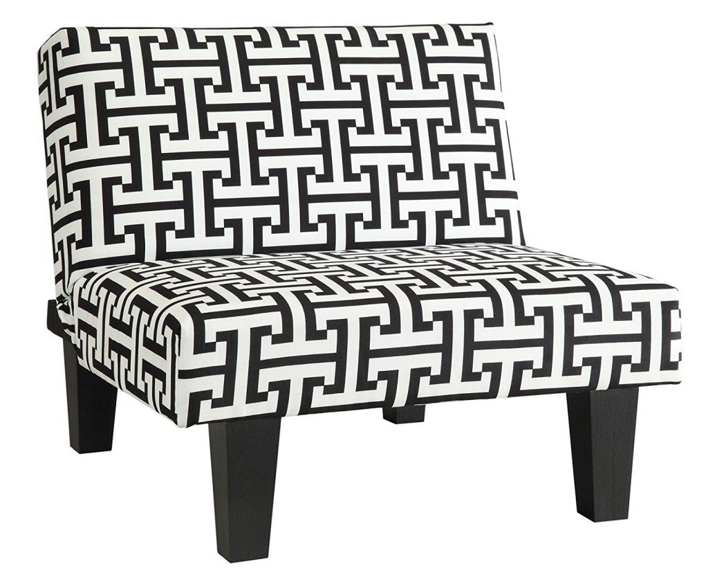 Kebo-Chair-Black-and-White-Geometric-Pattern-with-Dark-Legs-Multi-Position-Chair-Sitter-Sleeper