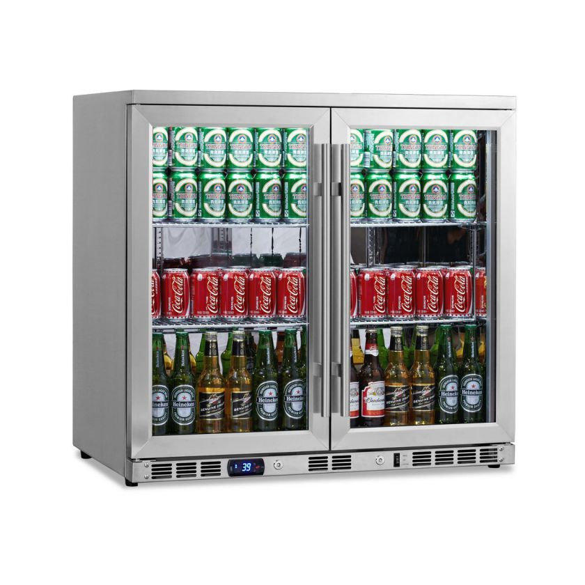 Beverage Refrigerator Glass Door To Keep Cool Drink