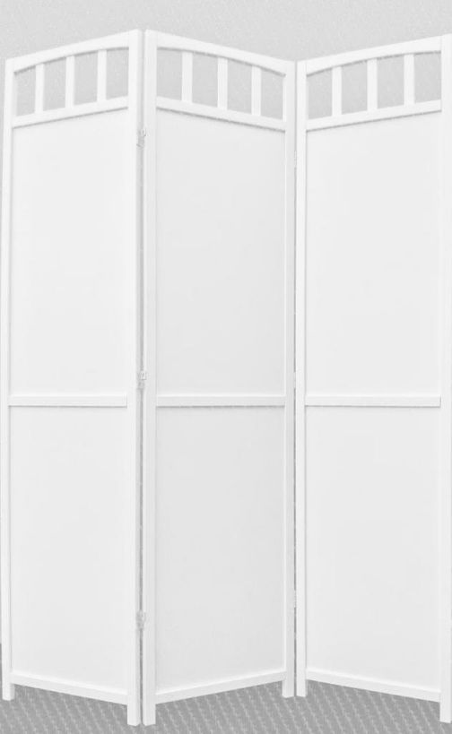 Legacy-Decor-3-panel-Screen-Room-Divider-Solid-Wood-White-Finish