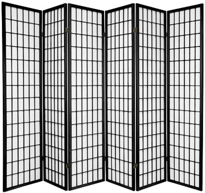 Legacy-Decor-6-panel-Room-Screen-Panel-Divider-Black-Finish