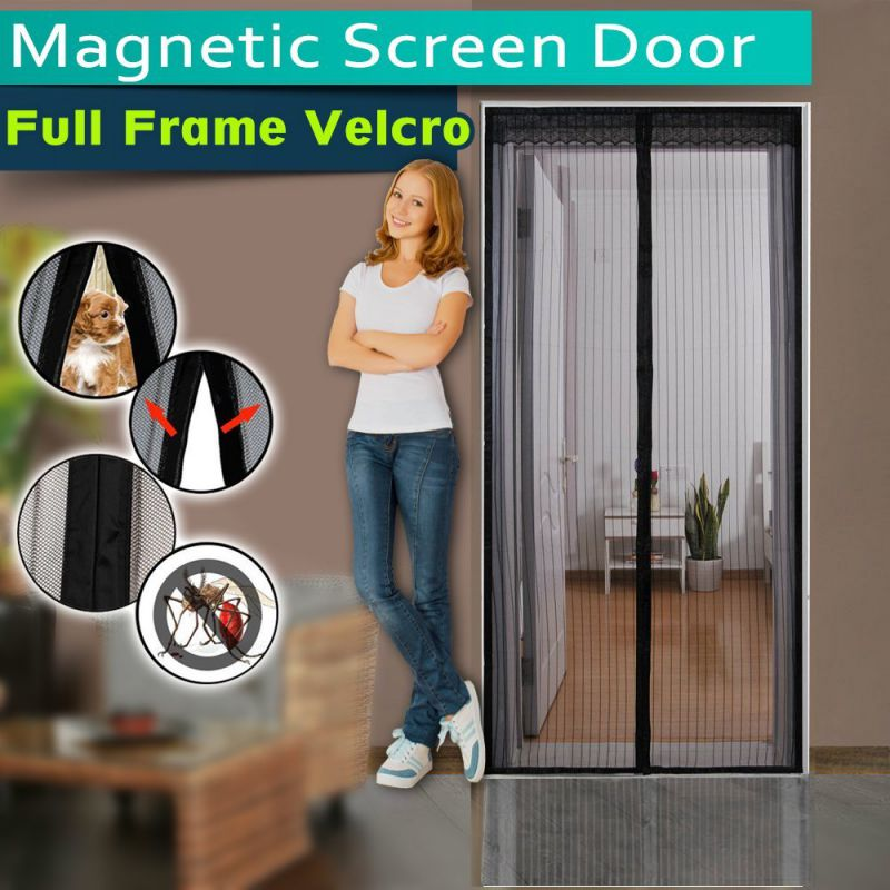 Magnetic Screen Door ,Full Frame Velcro