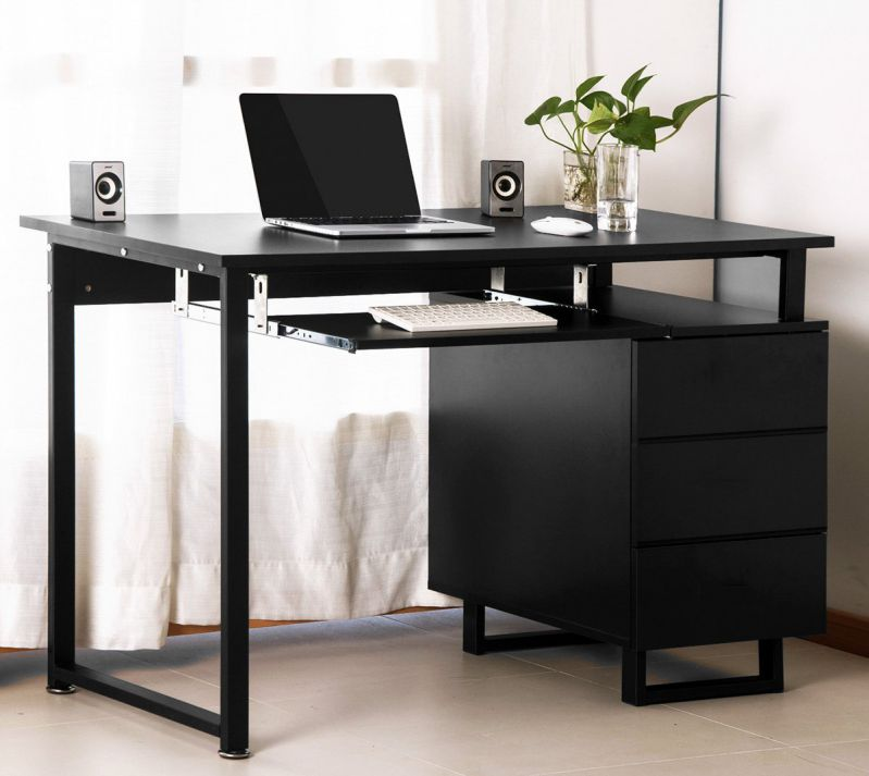 Merax Modern Simple Design Computer Desk Workstation with Cabinet