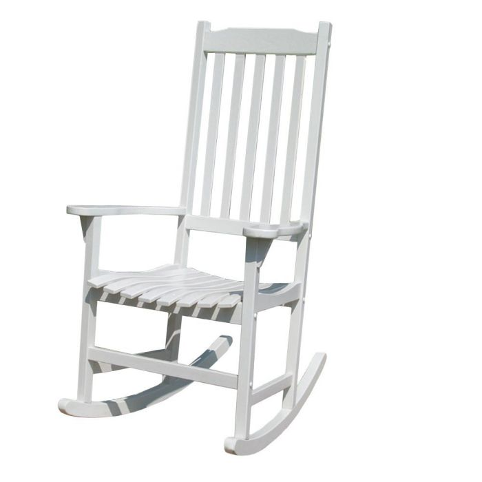 Merry-Garden-White-Porch-Rocking-Lawn-Chair-Acacia-Wood