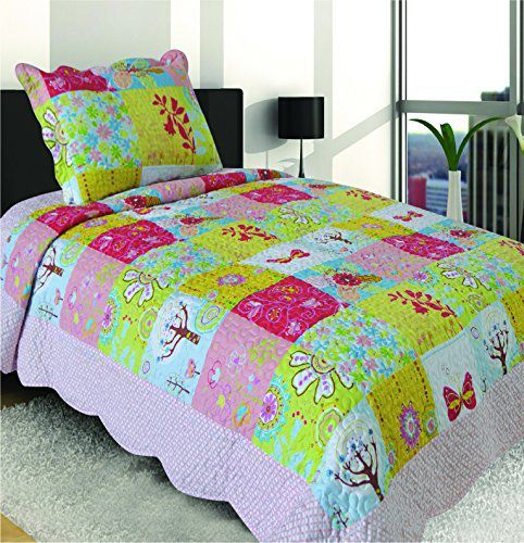 Mk Collection 2 Pc Blue Butterfly Bedspread Teens