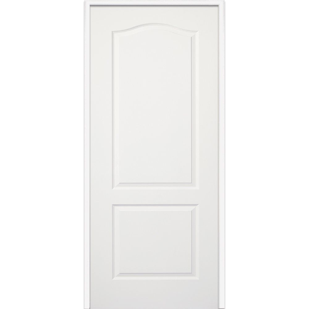 National Door Company Z009480L Wood Prehung Left Hand In-Swing 2-Panel Interior Door