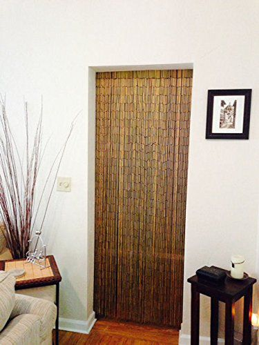 Natural Bamboo Beaded Curtain 125 Strands