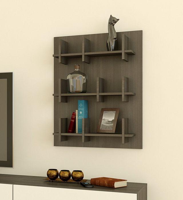 Nexera 225530 Allure Bookcase Wall Panel, Ebony