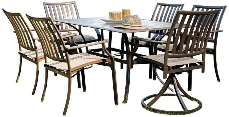 Panama Jack Outdoor Island Breeze 7-Piece Slatted Dining Group Set