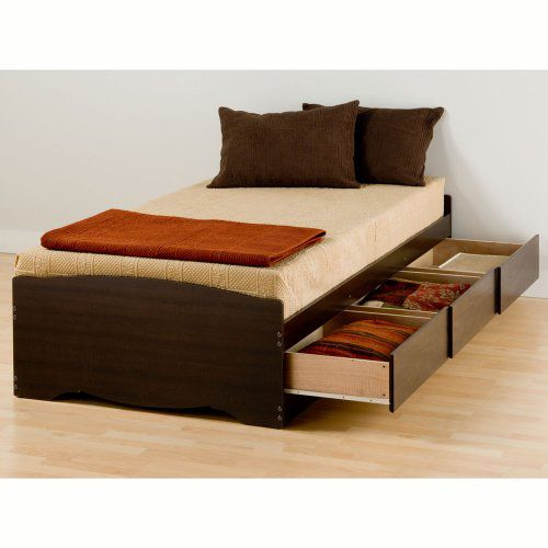 Prepac XL Twin Platform Mate's Storage Bed