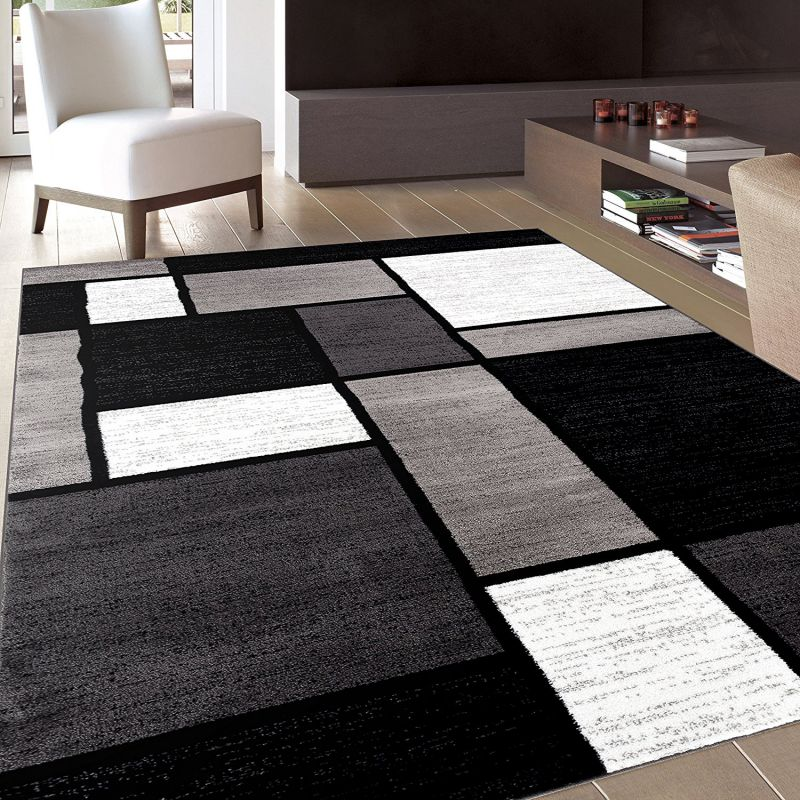 Rug Decor Contemporary Modern Boxes Area Rug