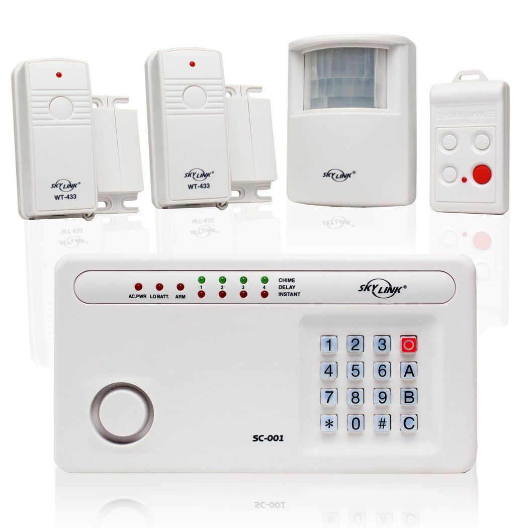 Skylink-SC-100W-Wireless-Deluxe-Home-Office-Burglar-Alarm-System-Alert-Security-Package