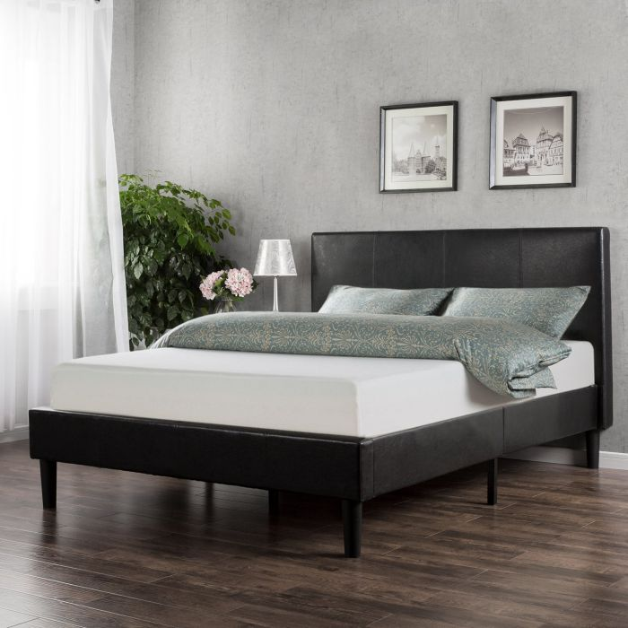 Sleep-Master-Memory-Foam-10-Inch-Mattress-and-Faux-Leather-Platform-Bed-Set-Queen