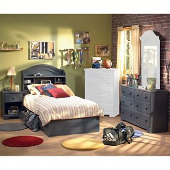 South-Shore-Summer-Breeze-Antique-Blue-Kids-Twin-Wood-Captains-Bed-4-Piece-Bedroom-Set