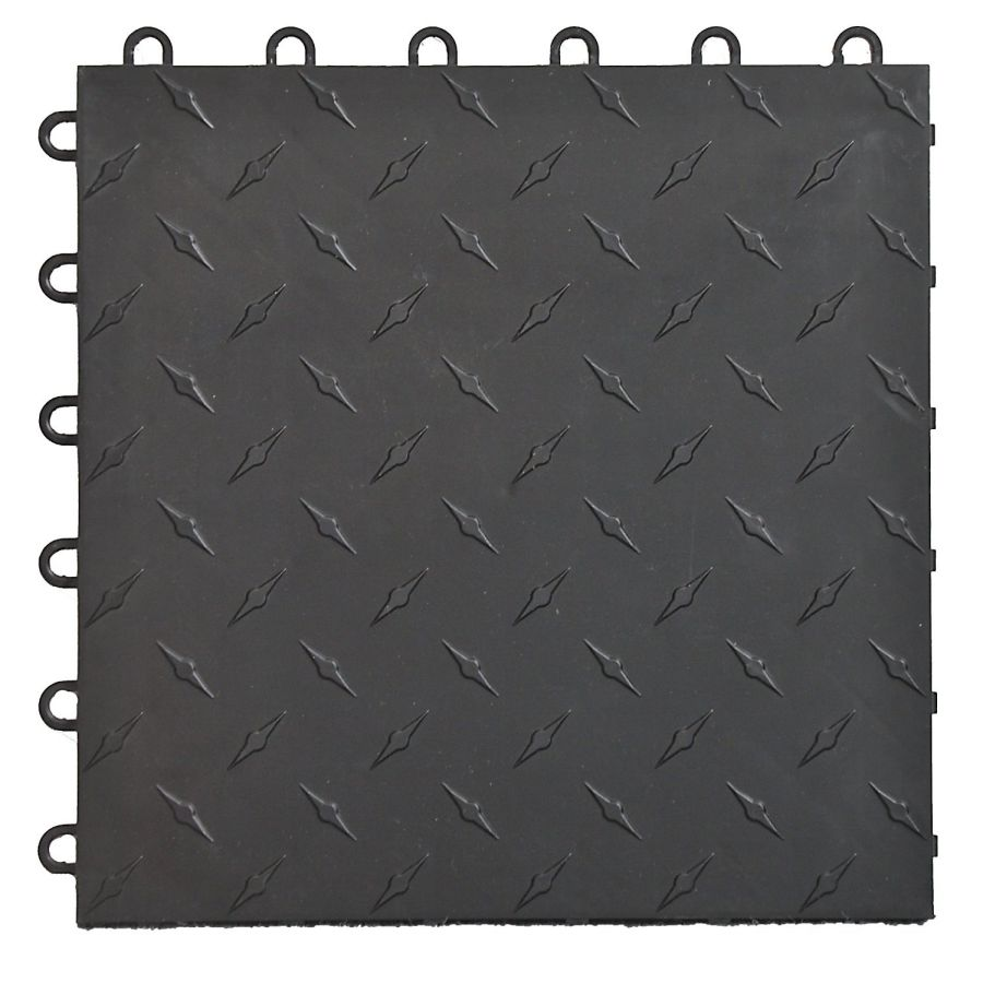 Speedway-Garage-Tile-Interlocking-Garage-Flooring-6-LOCK-Diamond-Tile-Black-25-pack