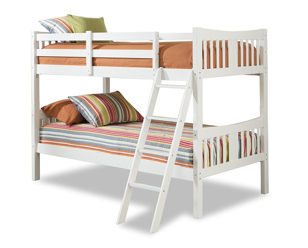 Storkcraft-Caribou-Solid-Hardwood-Twin-Bunk-Bed-White
