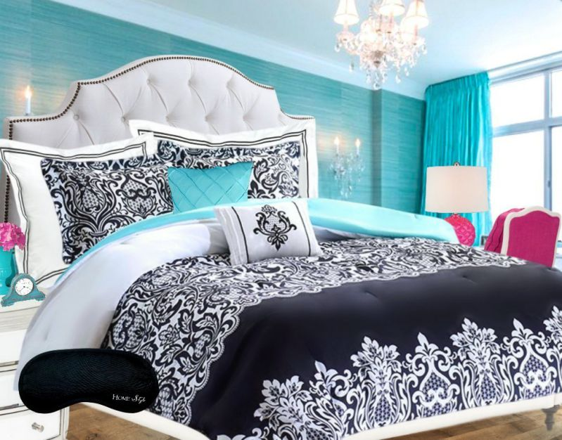 Teen-Girls-Bedding-Damask-Comforter-SUPER-SET