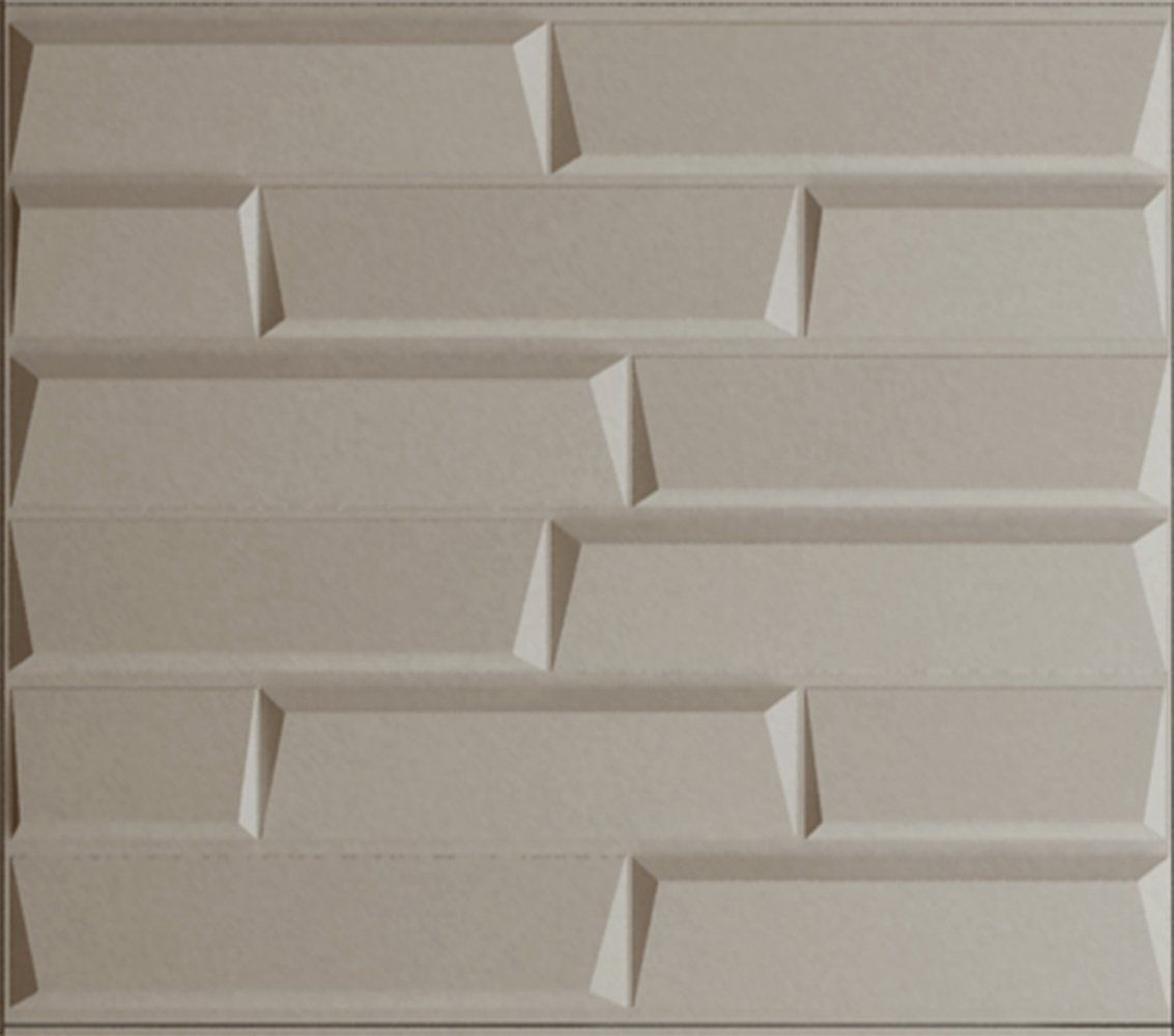 Upscale Designs 02111 16 sq. ft. 3D Glue-On Wainscoting Panels
