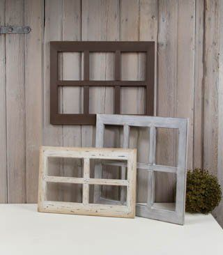 Vintage Country Wood Window Frames - Set of 3