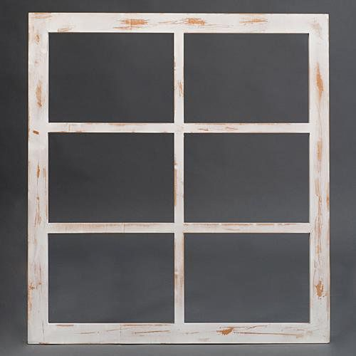 Weathered Wooden Window Frames
