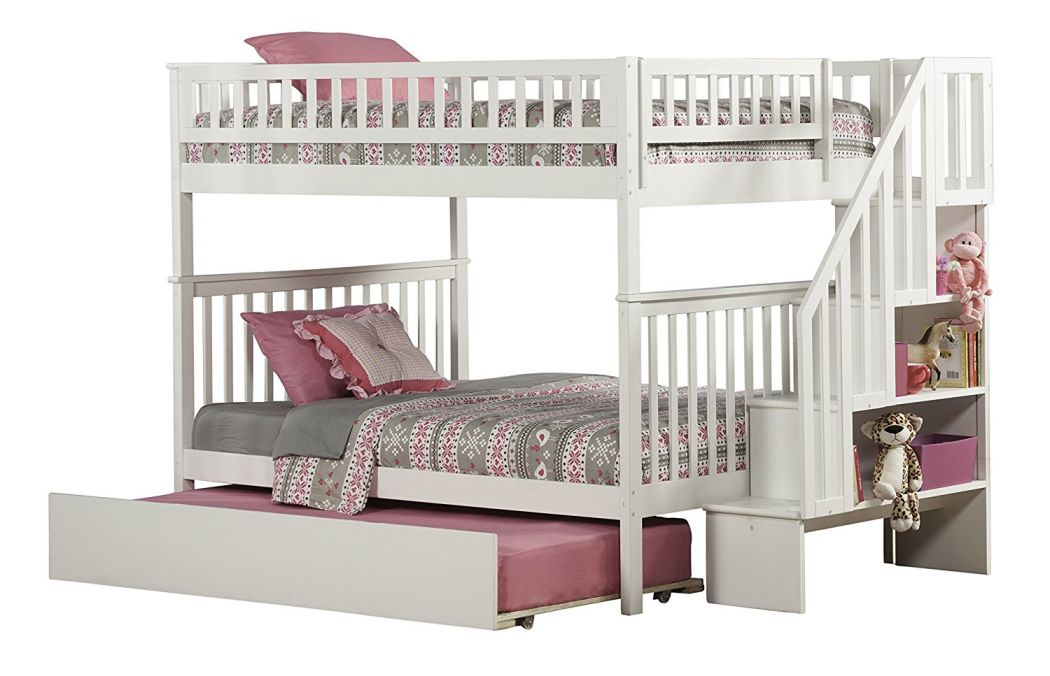 Woodland-Staircase-Bunk-Bed-with-Urban-Trundle-White-Full-Over-Full