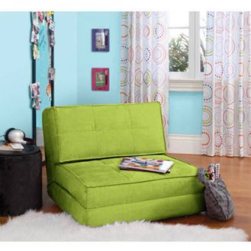 Your-Zone-Flip-Chair-Ultra-Suede-Material-Chair-Easily-Converts-into-a-Bed